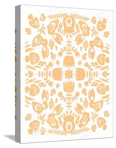 Otomi Rabbits Pastel-Cleonique Hilsaca-Stretched Canvas Print