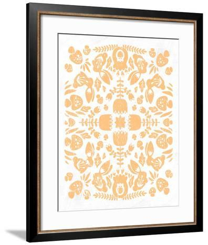 Otomi Rabbits Pastel-Cleonique Hilsaca-Framed Art Print