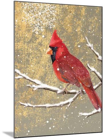 Winter Birds Cardinal Color-Beth Grove-Mounted Art Print