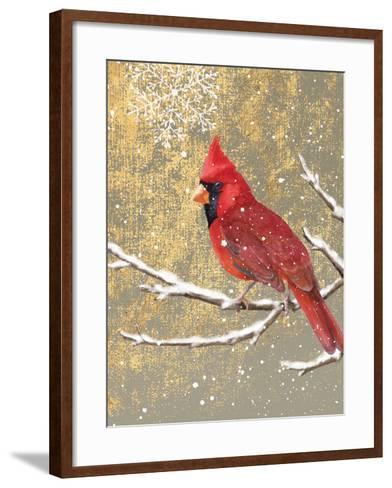 Winter Birds Cardinal Color-Beth Grove-Framed Art Print