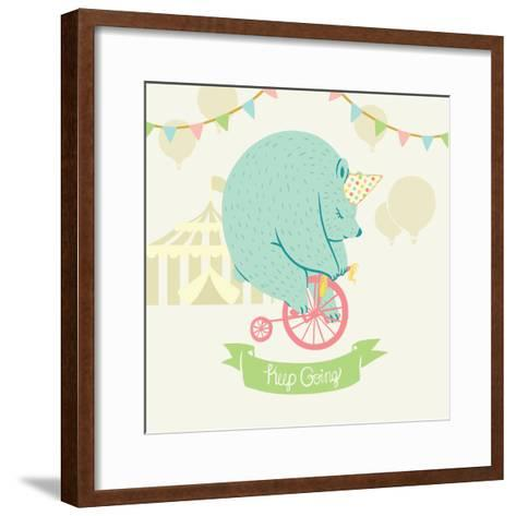 Little Circus Bear Pastel-Cleonique Hilsaca-Framed Art Print