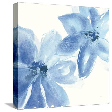 Cobalt Clematis II-Chris Paschke-Stretched Canvas Print