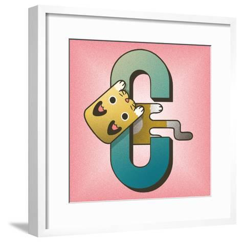 C is for Cat-Cleonique Hilsaca-Framed Art Print