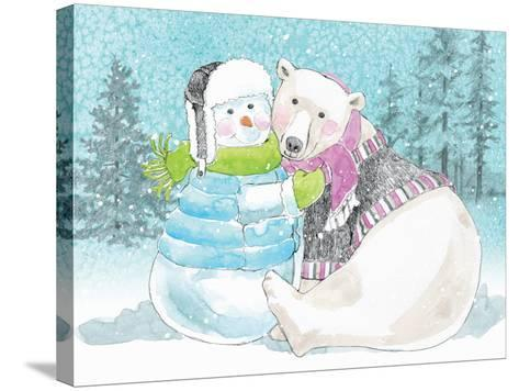 Polar Cap Friends III-Beth Grove-Stretched Canvas Print