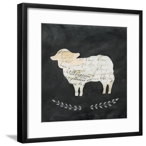 Le Mouton Cameo Sq no Words-Courtney Prahl-Framed Art Print