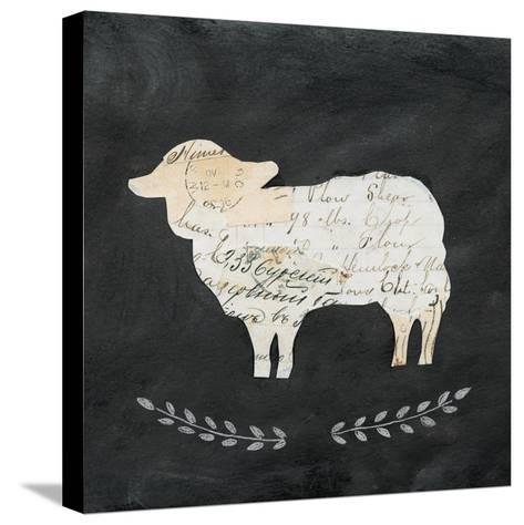 Le Mouton Cameo Sq no Words-Courtney Prahl-Stretched Canvas Print