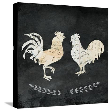 Le Coq Cameo Sq no Words-Courtney Prahl-Stretched Canvas Print