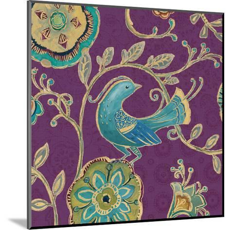 Bohemian Wings IX Aubergine-Daphne Brissonnet-Mounted Art Print
