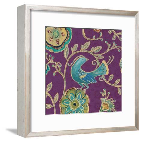 Bohemian Wings IX Aubergine-Daphne Brissonnet-Framed Art Print