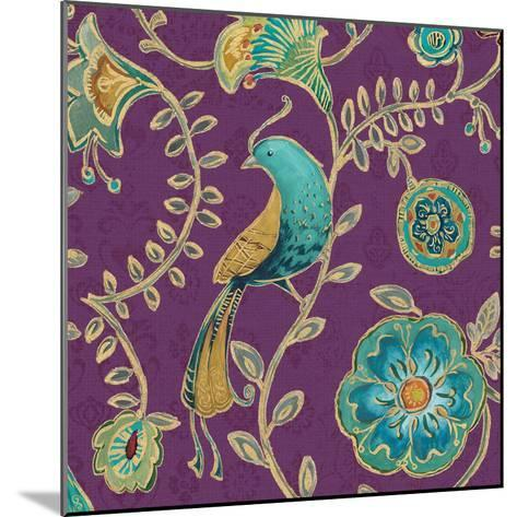 Bohemian Wings VIII Aubergine-Daphne Brissonnet-Mounted Art Print