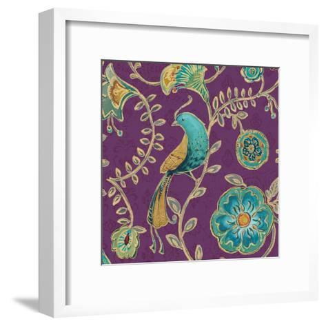 Bohemian Wings VIII Aubergine-Daphne Brissonnet-Framed Art Print