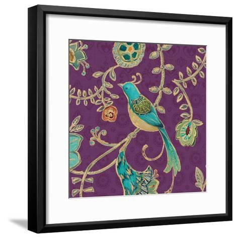 Bohemian Wings VI Aubergine-Daphne Brissonnet-Framed Art Print