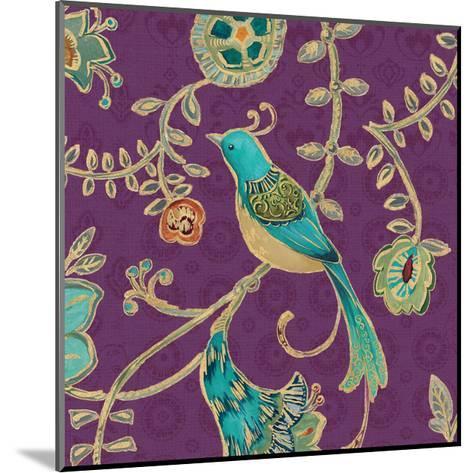 Bohemian Wings VI Aubergine-Daphne Brissonnet-Mounted Art Print