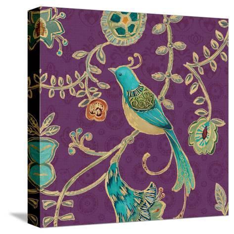 Bohemian Wings VI Aubergine-Daphne Brissonnet-Stretched Canvas Print