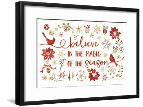 Holiday Impressions II-Daphne Brissonnet-Framed Art Print