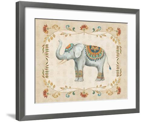 Elephant Walk III-Daphne Brissonnet-Framed Art Print
