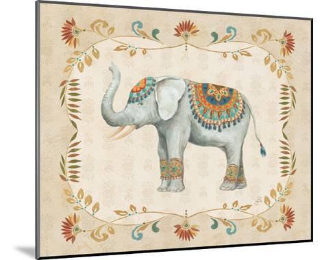 Elephant Walk III-Daphne Brissonnet-Mounted Art Print