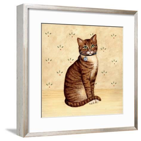 Country Kitty IV-David Cater Brown-Framed Art Print