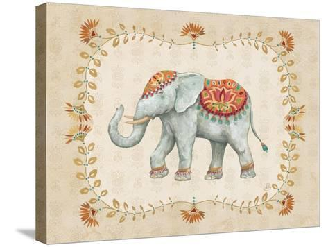 Elephant Walk V-Daphne Brissonnet-Stretched Canvas Print
