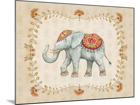 Elephant Walk V-Daphne Brissonnet-Mounted Art Print