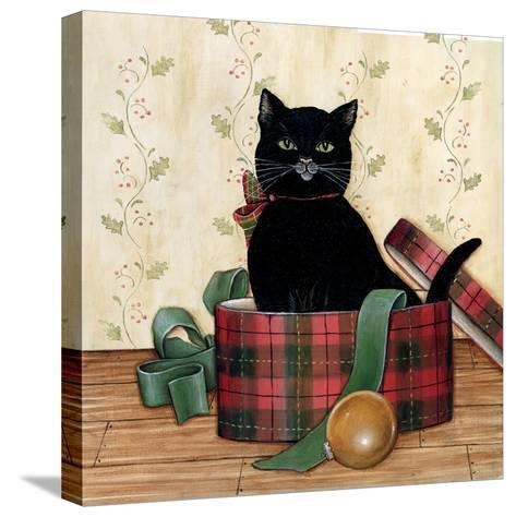 Christmas Kitty IV-David Cater Brown-Stretched Canvas Print