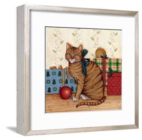 Christmas Kitty II-David Cater Brown-Framed Art Print