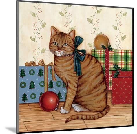 Christmas Kitty II-David Cater Brown-Mounted Art Print