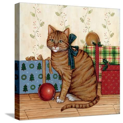 Christmas Kitty II-David Cater Brown-Stretched Canvas Print