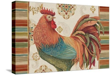 Rooster Rainbow IA-Daphne Brissonnet-Stretched Canvas Print