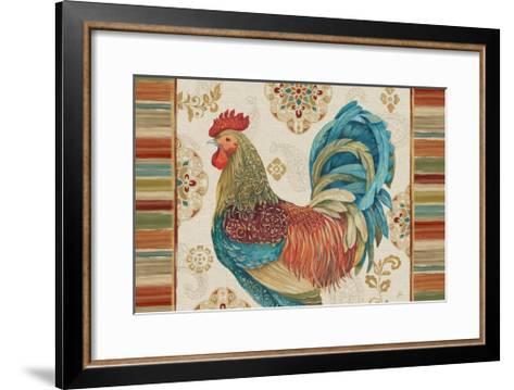 Rooster Rainbow IIA-Daphne Brissonnet-Framed Art Print