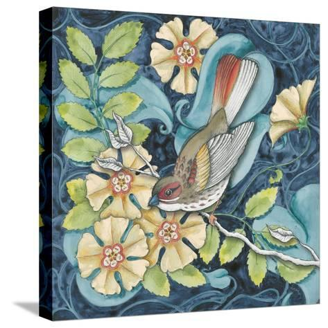 Arts and Crafts Bird II-Elyse DeNeige-Stretched Canvas Print