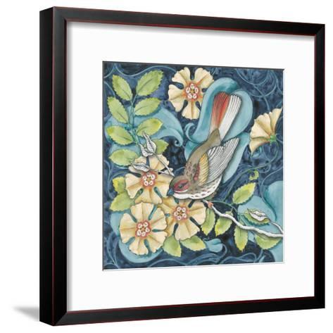 Arts and Crafts Bird II-Elyse DeNeige-Framed Art Print
