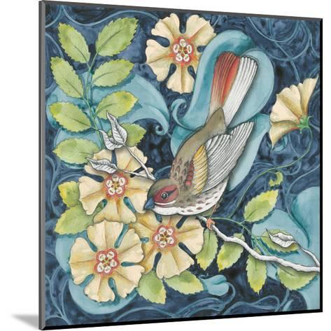Arts and Crafts Bird II-Elyse DeNeige-Mounted Art Print
