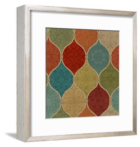 Spice Mosaic Pattern Crop-Daphne Brissonnet-Framed Art Print
