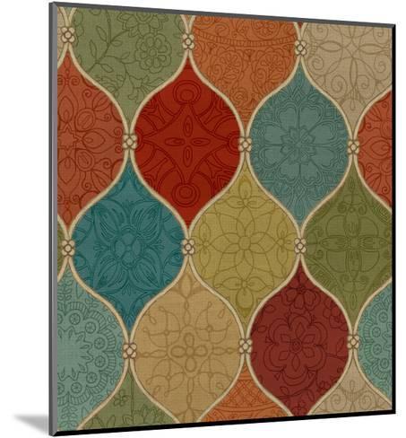Spice Mosaic Pattern Crop-Daphne Brissonnet-Mounted Art Print