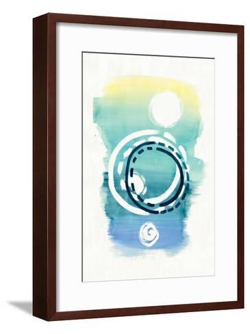 Offset Shapes Circle-Elyse DeNeige-Framed Art Print