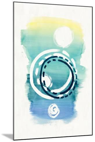 Offset Shapes Circle-Elyse DeNeige-Mounted Art Print