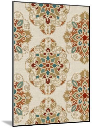 Kolam Pattern I-Daphne Brissonnet-Mounted Art Print