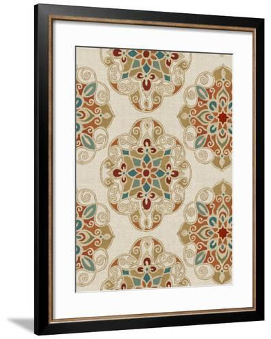Kolam Pattern I-Daphne Brissonnet-Framed Art Print