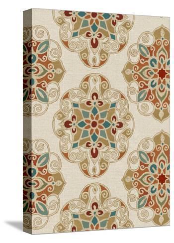 Kolam Pattern I-Daphne Brissonnet-Stretched Canvas Print