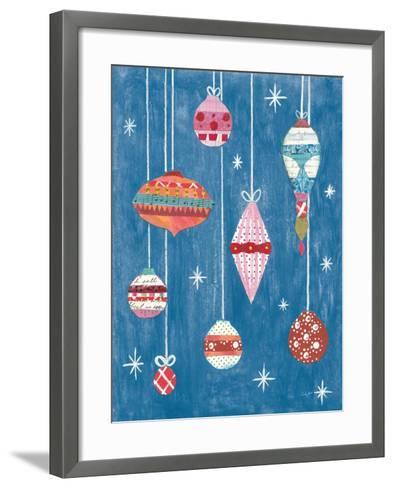 Retro Ornament II Blue-Courtney Prahl-Framed Art Print