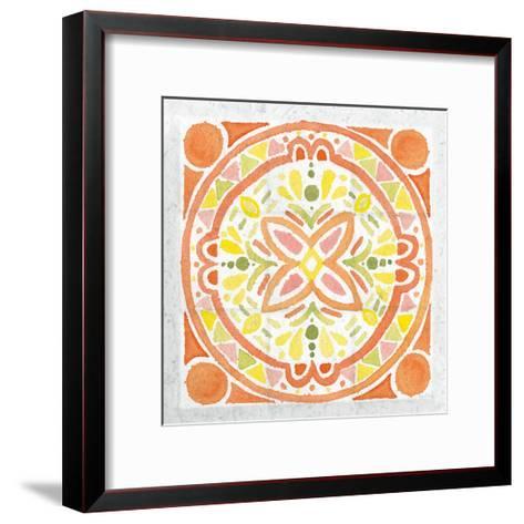 Citrus Tile I v2-Elyse DeNeige-Framed Art Print