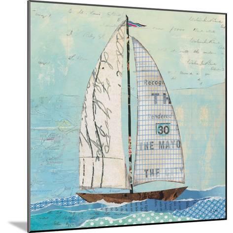 At the Regatta III Sail Sq-Courtney Prahl-Mounted Art Print