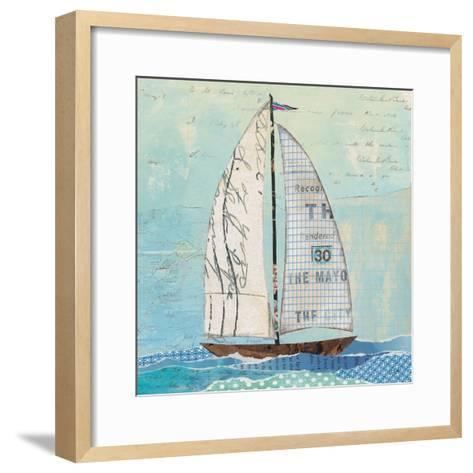 At the Regatta III Sail Sq-Courtney Prahl-Framed Art Print