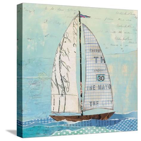 At the Regatta III Sail Sq-Courtney Prahl-Stretched Canvas Print