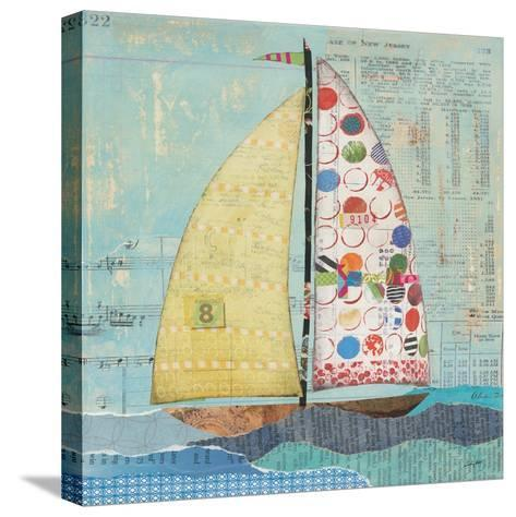 At the Regatta I Sail Sq-Courtney Prahl-Stretched Canvas Print