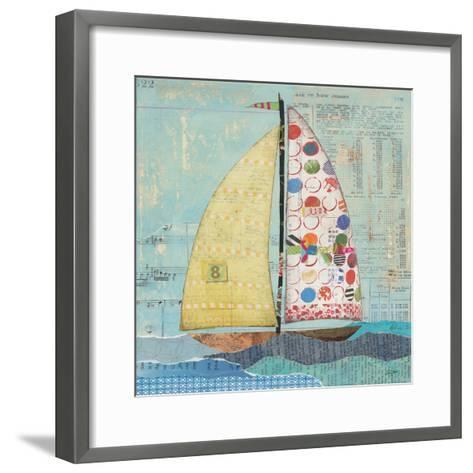 At the Regatta I Sail Sq-Courtney Prahl-Framed Art Print