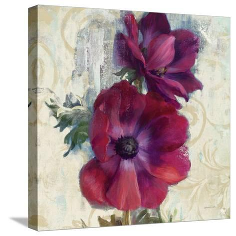 Rich Anemones I on Ivory-Danhui Nai-Stretched Canvas Print
