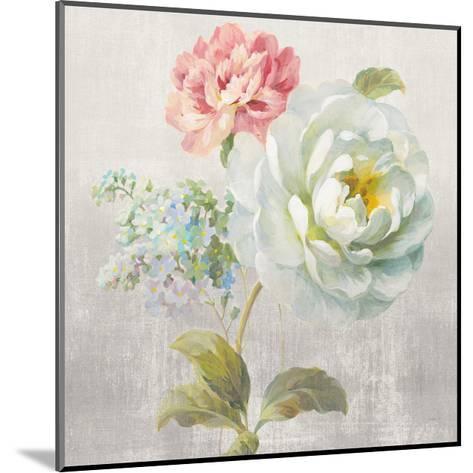 Textile Floral Square I No Lace-Danhui Nai-Mounted Art Print