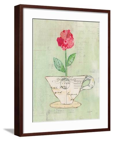 Teacup Floral I on Print-Courtney Prahl-Framed Art Print